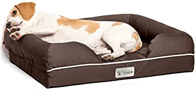 PetFusion Ultimate Solid 10cm WATERPROOF Memory Foam Dog Bed