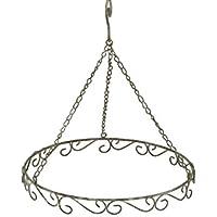Ring Deko  Kranz Dekohänger Metall Grau  Antik 30,5 Cm Durchmesser Zum  Dekorieren