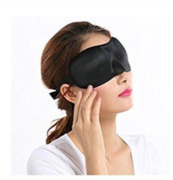 Domire Soft Travel Schlaf Rest 3D Eye Shade Schlafmaske Abdeckung Blinder Hilfe Eyemask Cool Black -