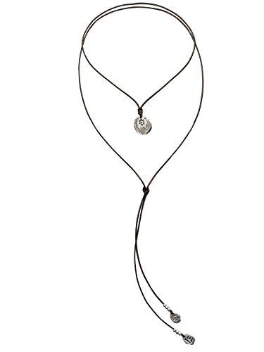 Beau Soleil Jewelry Lederkette Tribal Coins Ibiza Style Lederschmuck Halskette Damenkette Lederbandkette mit Anhänger