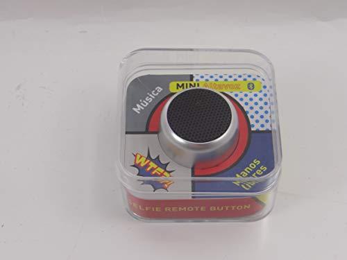 WTF wtf002-tragbarer Bluetooth Lautsprecher mit Fernauslöser Selfies, Farbe Silber - Bluetooth-lautsprecher Fernauslöser