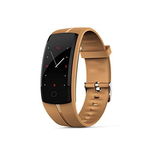 CCYOO Smart Armband Smart Uhren Blutdruck Pulsmesser Fitness Tracker Armband Android Ios,Brown
