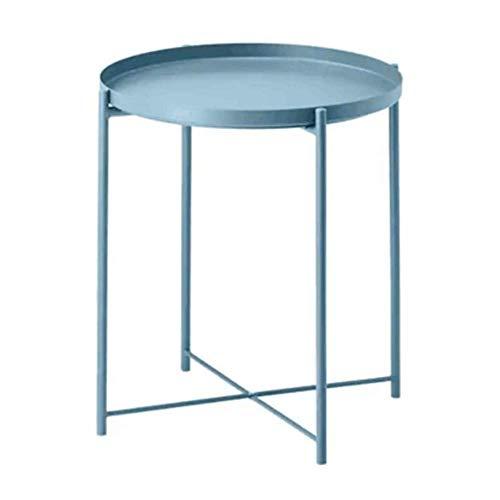 Nan entrambi i lati top disponibile, tavolino da salotto moderno in metallo piccolo tavolino da salotto - facile da usare (colore : blu)