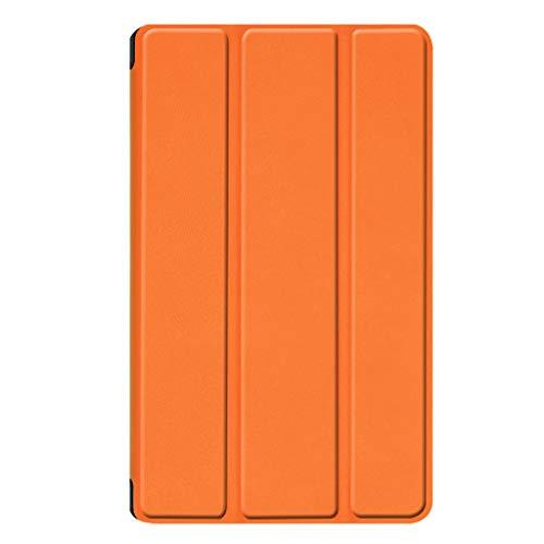 bel für Amazon Kindle Fire 7 2019 2017, Jamicy® Leder Magnetic Stand Flip Case Cover (Orange) ()