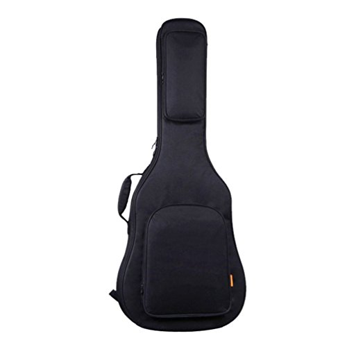 Yujeet Unisex Wasserdichte Reißverschlüsse Gitarrentasche Doppelgurt Klassikgitarren Gitarren Bag Schwarz