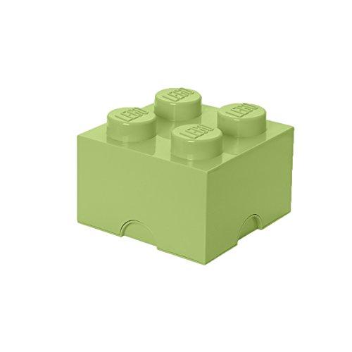 Lego 40031748 Speicherstein 4er, Plastik, gelblich-grün,  25 x 25 x 18 cm,  1 Einheiten -