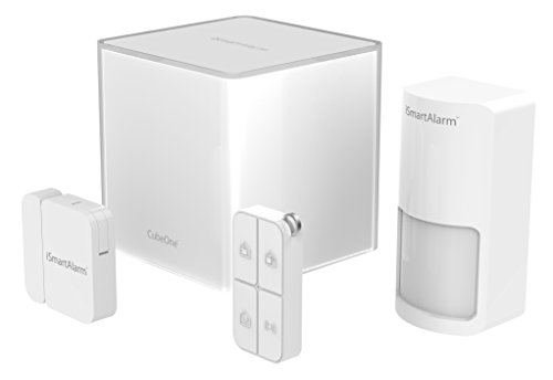 iSmartAlarm Starter Pack, Sistema di Sicurezza Domestico Wireless Modulabile con App per iOs ed Android, Colore Bianco