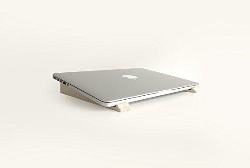 Humbleworks Laptop Ständer | Ergonomisches Holz Tragbarer Laptop-Ständer für MacBook Pro/air| verbessert Körperhaltung und Laptop Belüftung - Macbook 15 Holz-tastatur Pro