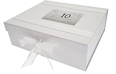 White Cotton Cards Boîte souvenir Grand