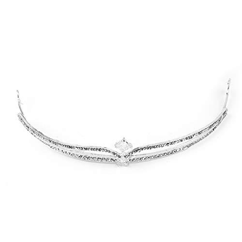 Jewelry M die Krone der Krone Braut Krone Kopfschmuck Haarband Zirkon Wasser Diamant Krone Hochzeit Haarschmuck Hochzeit Bekleidungszubehör Zarte und neu, Zirkon ()