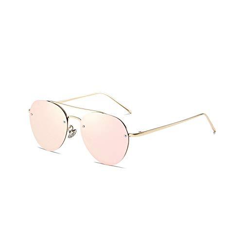 Sport-Sonnenbrillen, Vintage Sonnenbrillen, Vintage Brand Polarized Sunglasses WoMänner Männer Driving Pink Sun Glasses Fashion Aviation Metal Frame Rimless Sunglasses With Case Pink Mirror Lens