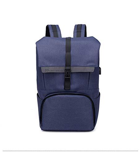 ZLDMJ Laptop Rucksack Business Rucksack für 15.6 Zoll Laptop Schulrucksack mit USB Ladeanschluss für Arbeit Wandern Reisen Camping,Blue