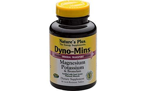 Natures Plus Dyno-Mins Magnesium Potassium & Bromelain 90 Tabletten - Bromelain 90 Tabletten