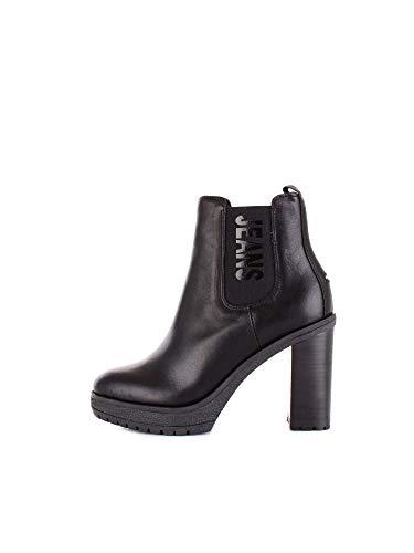 Tommy Hilfiger Damen Stiefeletten Essential Heeled Chelsea Boot EN0EN00244-990 schwarz 549235