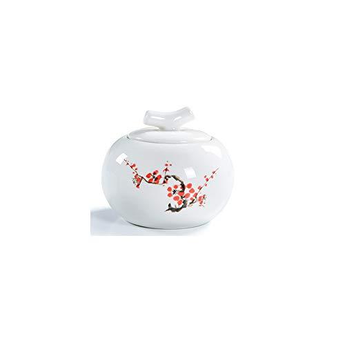 WEIFAN-Urns Erwachsene Kinder Haustier Gedenkurnen Keramiktöpfe - Anzeige Begräbnis zu Hause oder im Büro 10 * 8.5cm (Keramikabdeckung 2) -