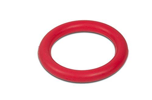 TrendPet Fun Ring - Roter Vollgummiring für Wurfspiele mit dem Hund (15cm)