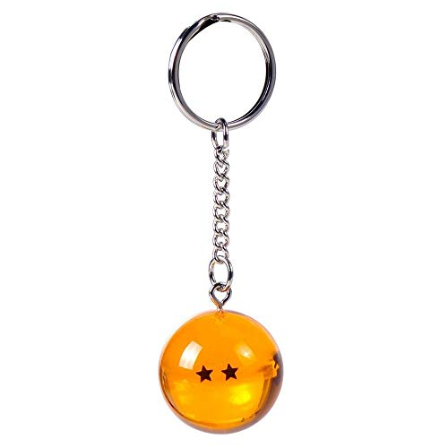 Dragon Ball - 2 Sterne Crystal Ball 3D - Schlüsselanhänger | Original Manga Anime