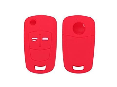 Happyit 2pcs Silicone Car Key Cover Case for Vauxhall Opel Corsa D Astra Vectra 2 Button Remote Key