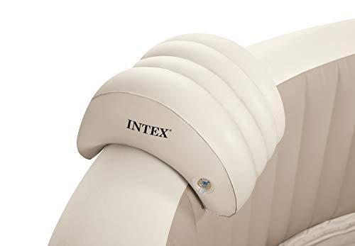 Intex PureSpa Whirlpoolzubehör - Aufblasbare Kopfstütze - 29 x 30 x 23 cm -Beige - Whirlpool-kissen