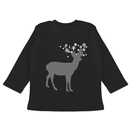 Winterurlaub Kostüm Ideen - Weihnachten Baby - Rentier Schnee