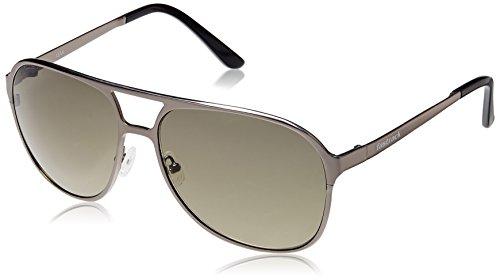 Fastrack Black Aviator Sunglasses (M118BR2) image
