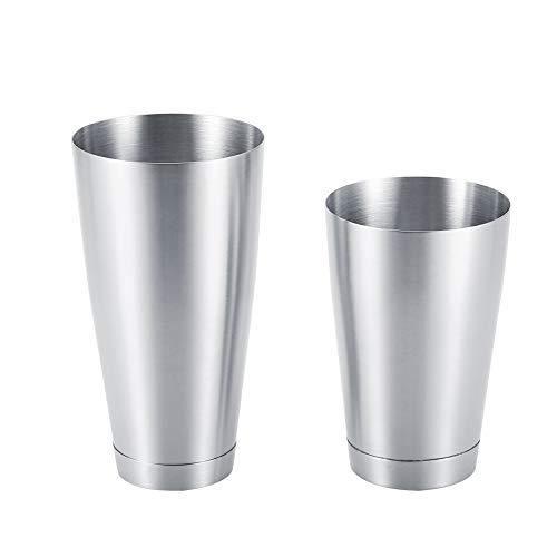 Boston Shaker Edelstahl Robust Langlebig Cocktail Cup Shaker Bar Home Kitchen Tool(silber)