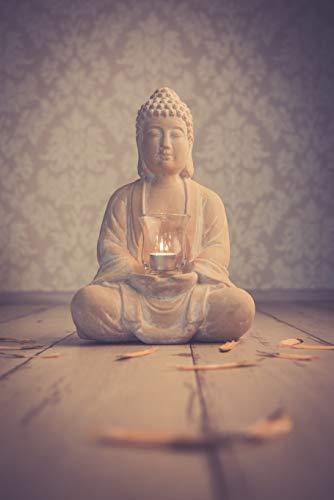 Buddha mit Teelicht Deko Figur 40cm groß betende - 3