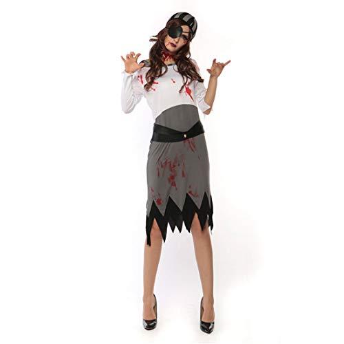 nspiel Piraten der Karibik Kostüm Bloody Buccaneer Cosplay Dress 3 Pieces ()