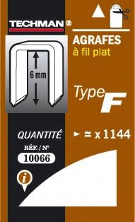 AGRAFES FIL PLAT TYPE F 8MM