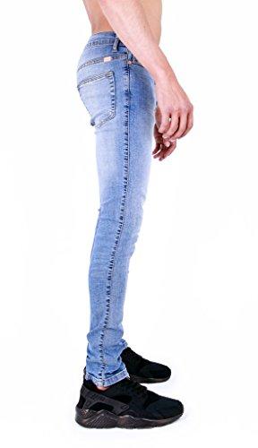 Homme Super Stretch Skinny Jeans Vintage Lightwash