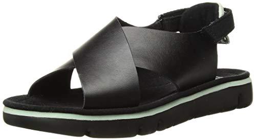 Camper Oruga Sandal, Sandalias de Talón Abierto para Mujer, Rosa Black 1, 39 EU
