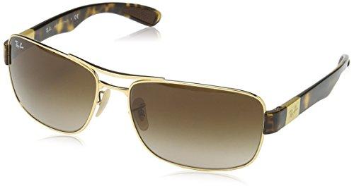 Ray Ban Unisex Sonnenbrille RB3522 Gestell: Gold/Havana, Gläser: Braun Verlauf 001/13), X-Large (Herstellergröße: 64)