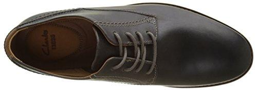 Clarks Franson Plain, Derby homme Gris (Grey Leather)