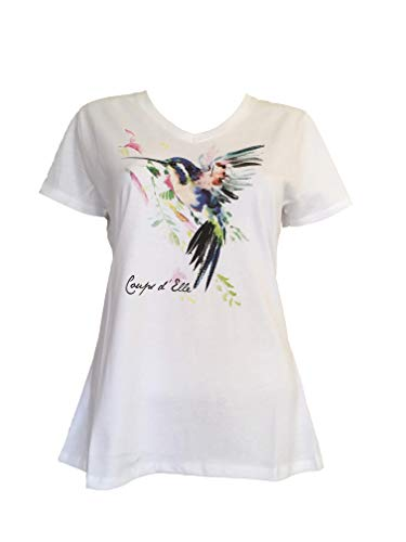 125f76d9e0c Alex(e) T-Shirt Femme Coton Biologique 100% Vêtement Manches Courtes Top