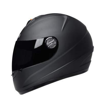 ZWL Motocross Offroad Street Helm Blue Skull Motorradhelm Silver Dirt Bike Helm + Handschuhe,Black