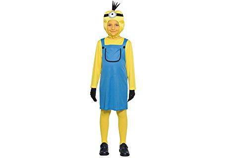 Mini Mädchen Kinderkostüm (110) (Mini Minion Kostüm)
