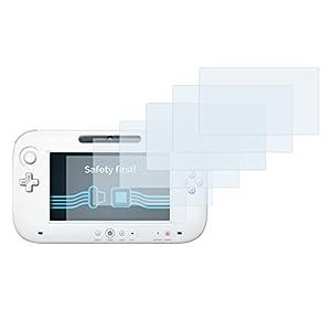 Savvies 6X Schutzfolie kompatibel mit Nintendo Wii U Gamepad (Controller) Displayschutz-Folie Ultra-transparent