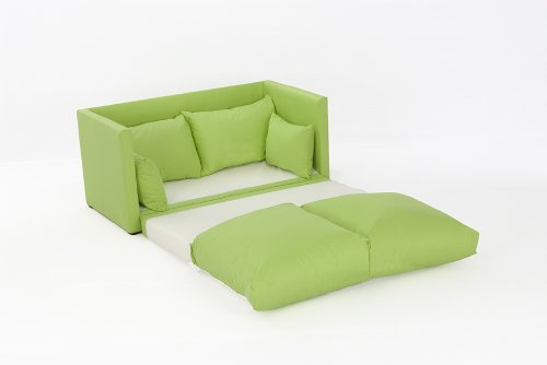 Leanne Sofa Bed in LIME Cotton Drill
