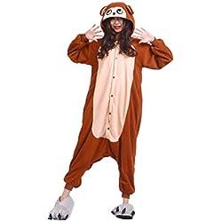 DarkCom Unisexe Adulte Cartoon Onesies Pyjama Nouveauté Costumes Cosplay d'halloween Combinaisons Vêtements Nuit