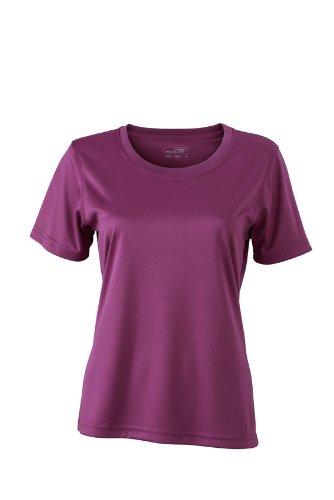 JAMES & NICHOLSON Funktions T-shirt Ladies Active - T-shirt de Maternité - Femme Violet (Puple)
