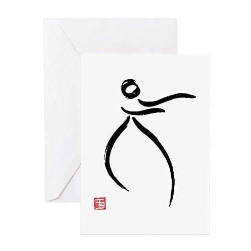 CafePress - Tai Chi Raise Hands - Grußkarte, Notizkarte, Geburtstagskarte, innen blanko, glänzend
