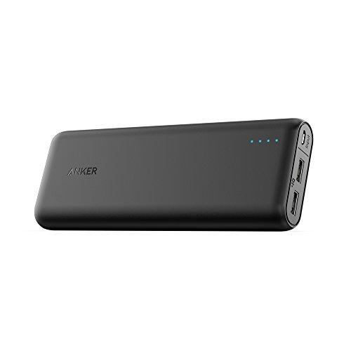 Galleria fotografica Anker PowerCore 20100mAh Caricabatterie Portatile 2 porte USB Ultra Compatto, Nero
