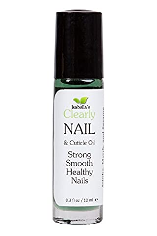 Isabella's Clearly NAIL. Best Natural Nail & Cuticle Care. Moisturize, Treat Brittle Cracked for Strong Smooth Nails. Vitamin Enriched Oil. Almond, Jojoba, Tansy, Myrrh, Anti-Fungal Tea Tree, 0.3 Oz