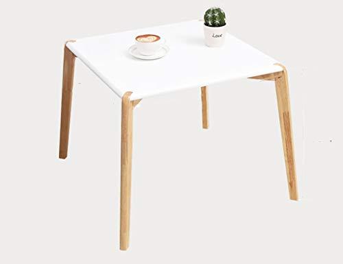 TAZZ-L Lagerung Kleiner Speisetisch, Weiß Desktop-höl Couchtisch Haushalt Kindergarten Kinder Desk Study Tischhöhe ist 48CM Bequem und schön (Color : White, Size : 55 * 55 * 48CM)