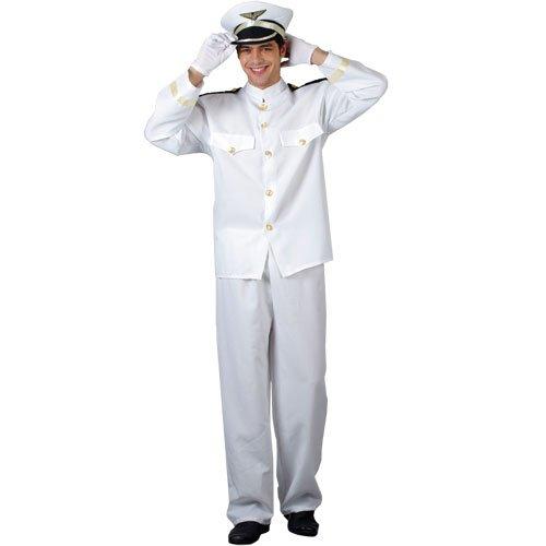 Kostüm Navy Uniform Officer - WICKED NAVY SAILOR WHITE UNIFORM NAVAL OFFICER FANCY DRESS COSTUME