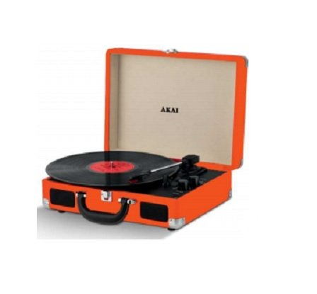 Akai R45OR Giradiscos Color Naranja