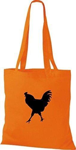 Shirtstown, Borsa a mano donna Arancione (arancione)