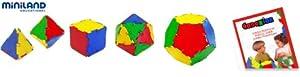 Miniland Conexion: sólidos platónicos, 54 Piezas en Bote con asa (32117)