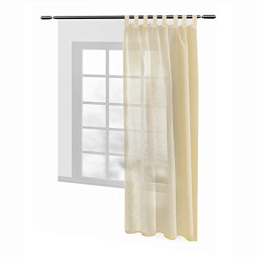 WOLTU #632 Tenda Trasparente per Finesta Camera da Letto Lino Voile 1 Pannello
