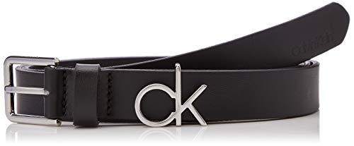 Calvin klein 2.5cm ck slider belt cintura, nero (black 001), 5 (taglia produttore: 85) donna